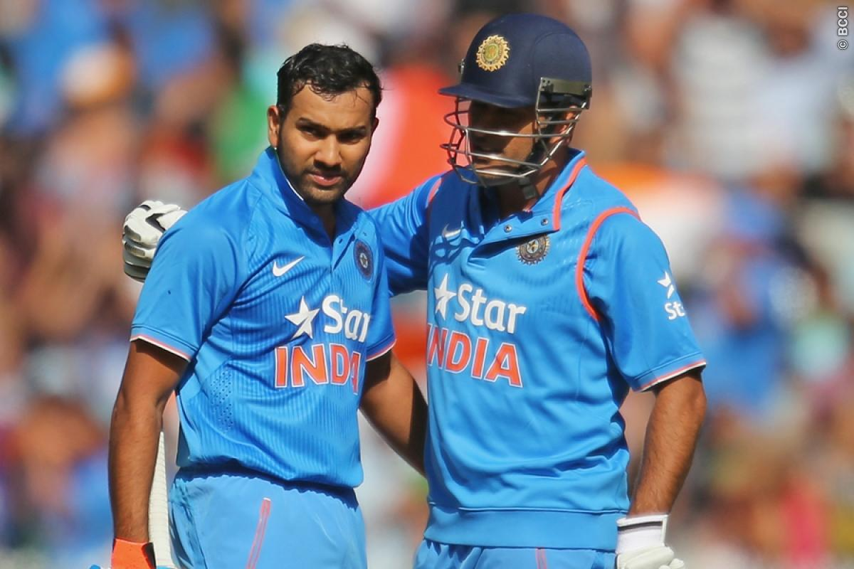 MS Dhoni praises Rohit Sharma, Suresh Raina after reaching ...
