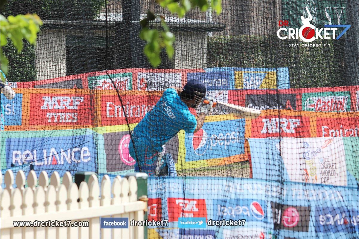 MS Dhoni batting practice at the SCG
