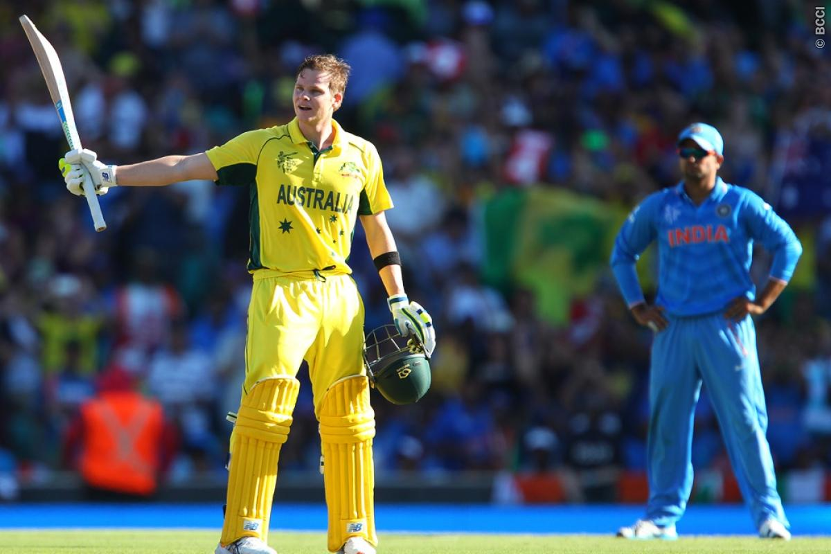 Steven Smith carries Australia to make 328 in World Cup semi-final