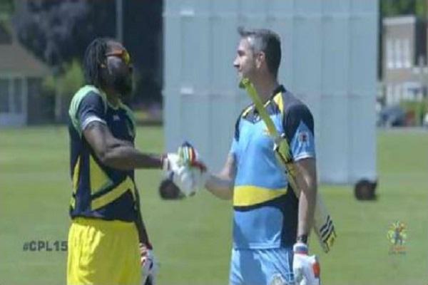 Caribbean Premier League: Watch Chris Gayle vs Kevin Pietersen six-hitting match