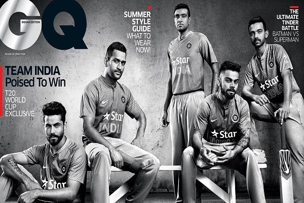 MS Dhoni, Ravindra Jadeja, Virat Kohli Feature on GQ India March Cover