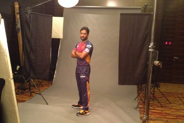 Captain MS Dhoni Wearing Rising Pune Supergiants Jersey