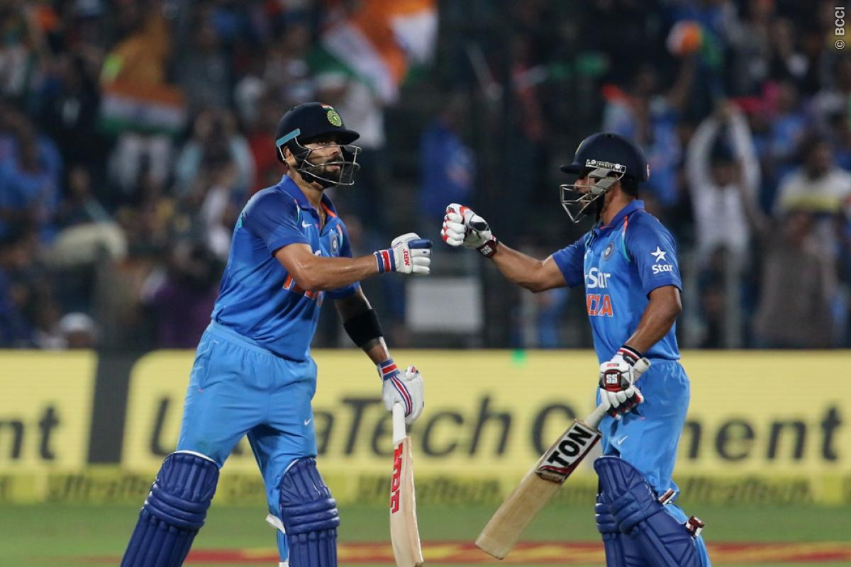 Kedar Jadhav: Batting with Virat Kohli Helps