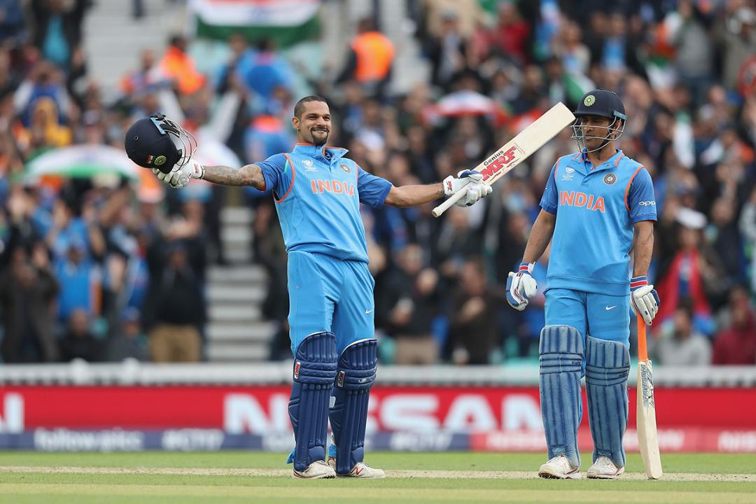 Shikhar Dhawan Becomes India's Lead Scorer in Champions Trophy