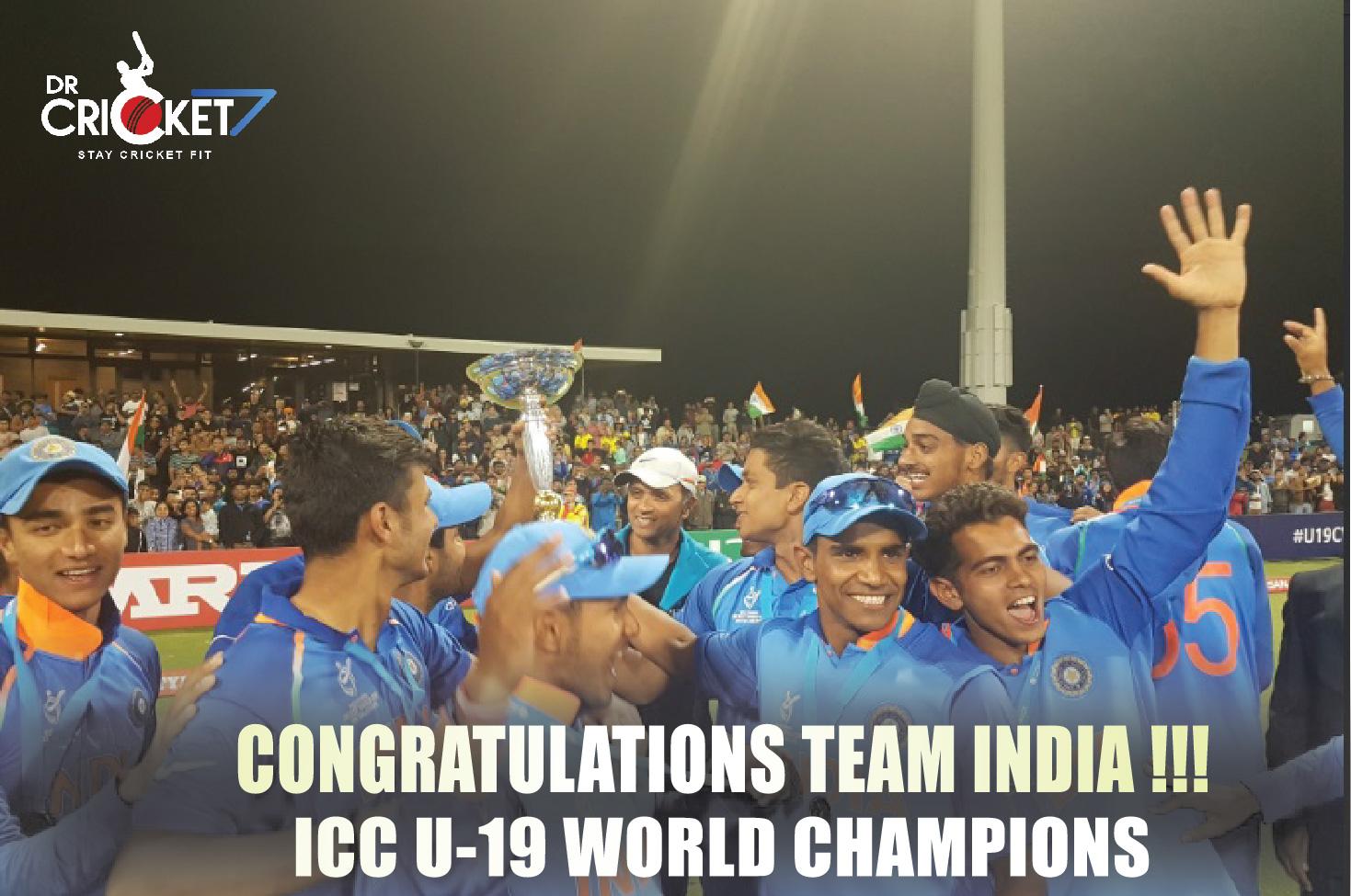BCCI announces cash reward, Congratulates victorious India U-19 team