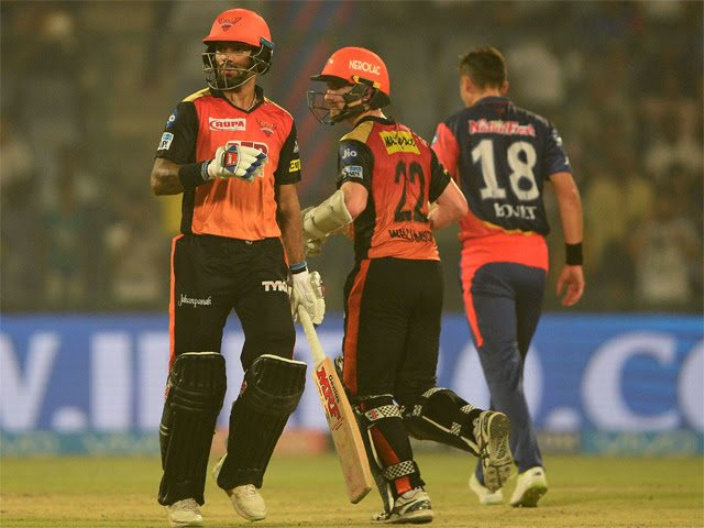 Dhawan, Williamson Help Sunrisers Edge Ahead in