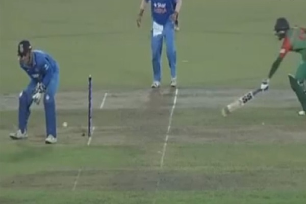 Watch amazing run out by MS Dhoni against Bangladesh [VIDEO]