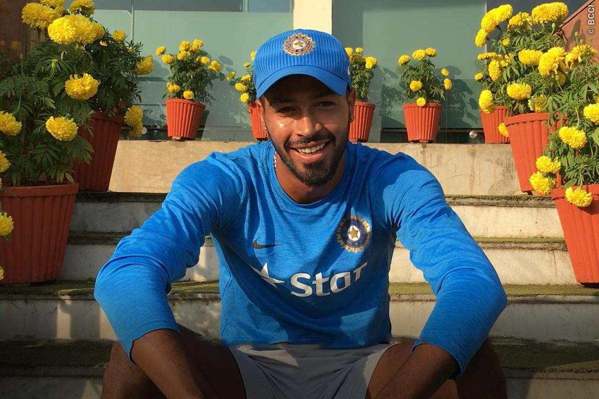 Hardik Pandya Credits MS Dhoni After Maiden Century