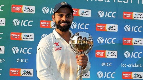 INDIA RETAIN ICC TEST CHAMPIONSHIP MACE